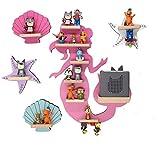 BOARTI Kinder Regal Meerjungfrau Kollektion mit Meerjungfrau pink, 2 Muscheln und 2 Seesternen geeignet für die Toniebox und ca. 43 Tonies - zum Spielen und Sammeln