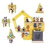 BOARTI Bagger Kollektion Kinder Regal small in gelb, 5-teilig - geeignet für die Toniebox und ca. 43 Tonies - zum Spielen und Sammeln