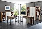 Büromöbel Arbeitszimmer Home Office komplett Set Office Edition (Set 5) in Eiche Sonoma/Weiß - Made in Germany