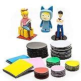 10er Set - Klebepunkte magnetisch für Toniebox Figuren - Tonie Regal, Farbe:Gelb, Variante:Rund 25 mm