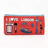 Ich liebe London Federmäppchen Oxford Tuch Soldat Federbeutel Aktenschrank Lagerregal Schreibwaren Schulmaterial Student Geschenk rot